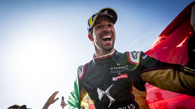 Formula E ePrix Marrakech 2020: Antonio Felix Da Costa (DS Techeetah) festeggia dopo il traguardo