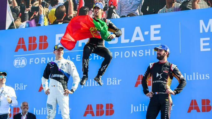 Formula E ePrix Marrakech 2020: Antonio Felix Da Costa (DS Techeetah) festeggia sul podio