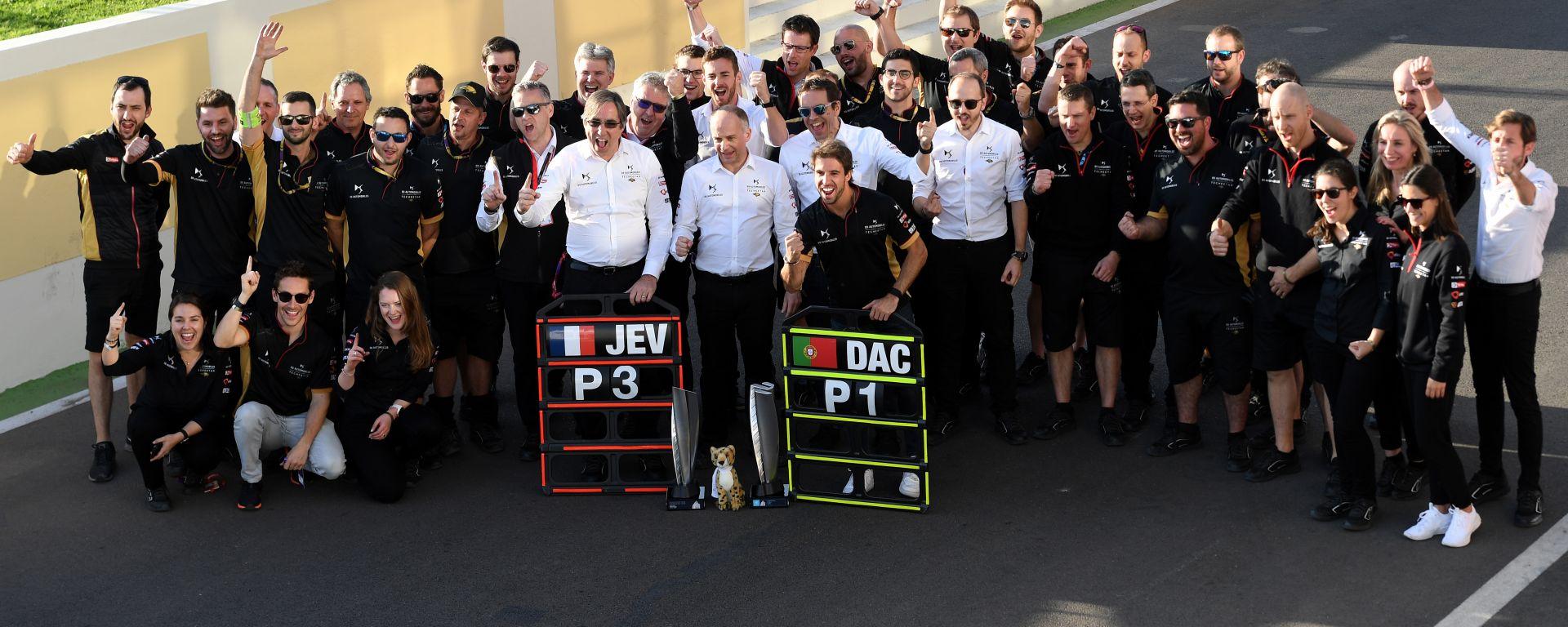 Formula E ePrix Marrakech 2020: i festeggiamenti degli uomini DS Techeetah per il doppio podio