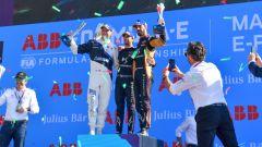 Formula E ePrix Marrakech 2020: il podio. Da sinistra Gunther (Bmw), Da Costa e Vergne (DS Techeetah)