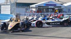 Formula E ePrix New York 2019, l'incidente tra André Lotterer e José Maria Lopez