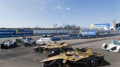Formula E ePrix New York 2019, Lotterer e Vergne in Gara-1