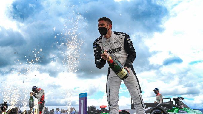 Formula E ePrix Puebla 2021: Edoardo Mortara (Venturi Racing) festeggia sul podio