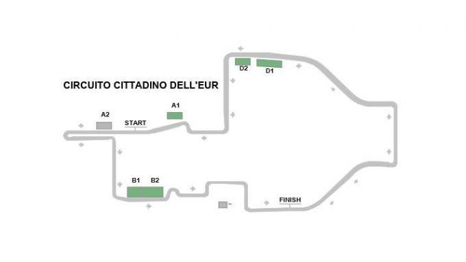 Formula E, ePrix Roma 2020: il circuito dell'Eur