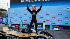 Formula E ePrix Roma 2021: Jean-Eric Vergne (Ds Techeetah) festeggia dopo il traguardo