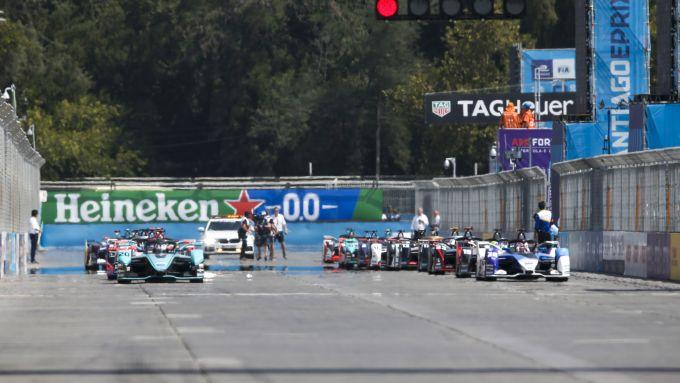 Formula E, ePrix Santiago 2020: la partenza della gara