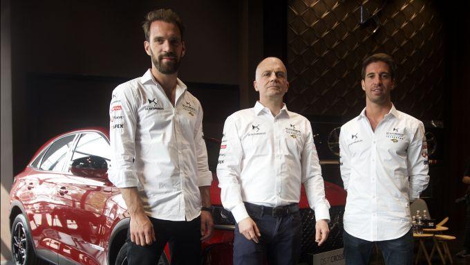 Formula E, ePrix Santiago 2020: Vergne e Da Costa con il direttore Ds Performance, Mestelan-Pinon