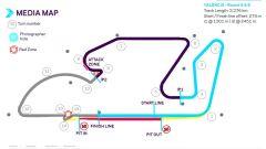 Formula E ePrix Valencia 2021: la mappa del circuito Ricardo Tormo