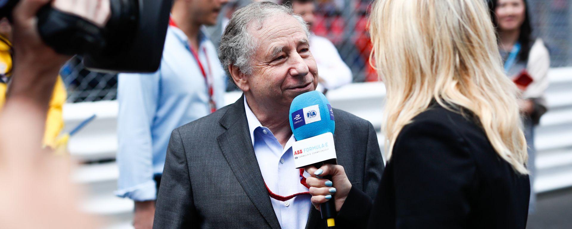 Formula E: il presidente Fia, Jean Todt, intervistato sulla griglia di partenza dell'ePrix di Monaco 2019