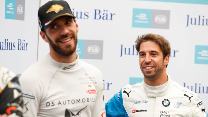 Formula E, Jean-Eric Vergne (Ds Techeetah) e Antonio Felix Da Costa (Bmw)