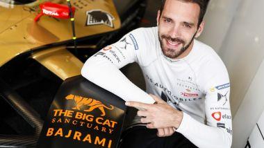 Formula E, Jean-Eric Vergne e il logo del Big Cat Sanctuary sulla sua DS E-TENSE 20