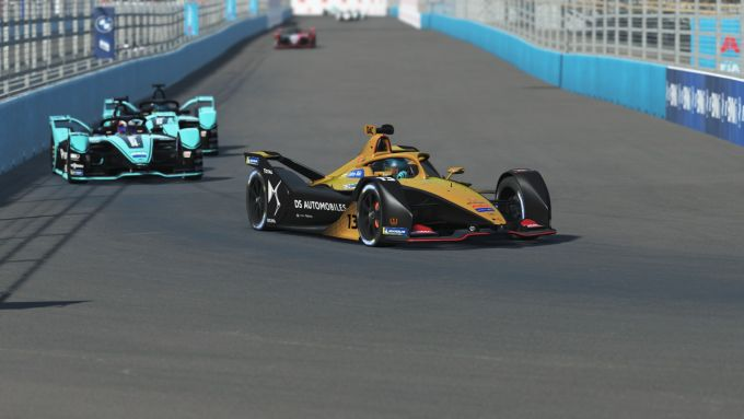 Formula E Race at Home Challenge 2020: Antonio Felix Da Costa (DS Techeetah) in una fase di gara