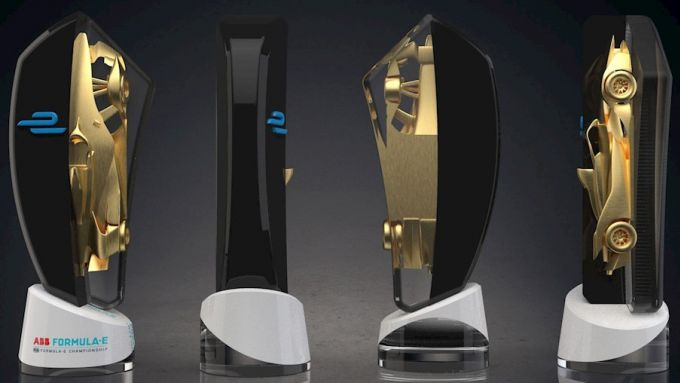 Formula E, Race at Home Challenge 2020: il trofeo della competizione disegnato dai fan