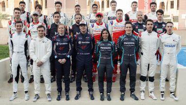 Formula E, Rookie Test Marrakech 2020: foto di gruppo dei piloti in pista