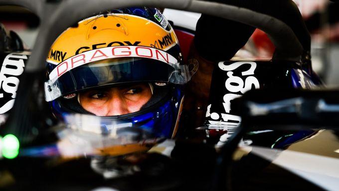 Formula E rookie test Marrakech 2020: Sergio Sette Camara (Geox Dragon) in abitacolo