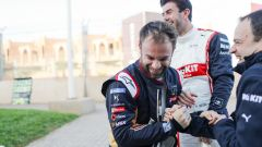 Formula E, Rookie Test Marrakech: Nicolas Lapierre (DS Techeetah) scherza con Norman Nato (Venturi)