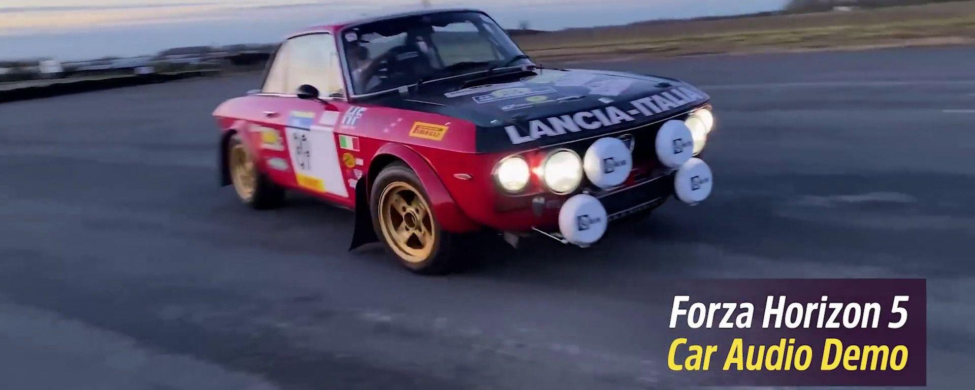 Forza Horizon 5: la registrazione del sound della Lancia Fulvia HF