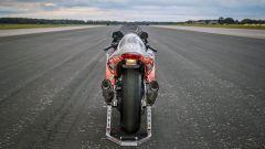 Foto posteriore di una Suzuki Hayabusa Turbo da record di velocità