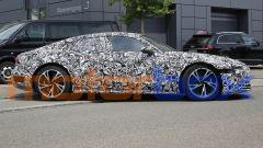 Foto spia di Audi e-tron GT: visuale laterale