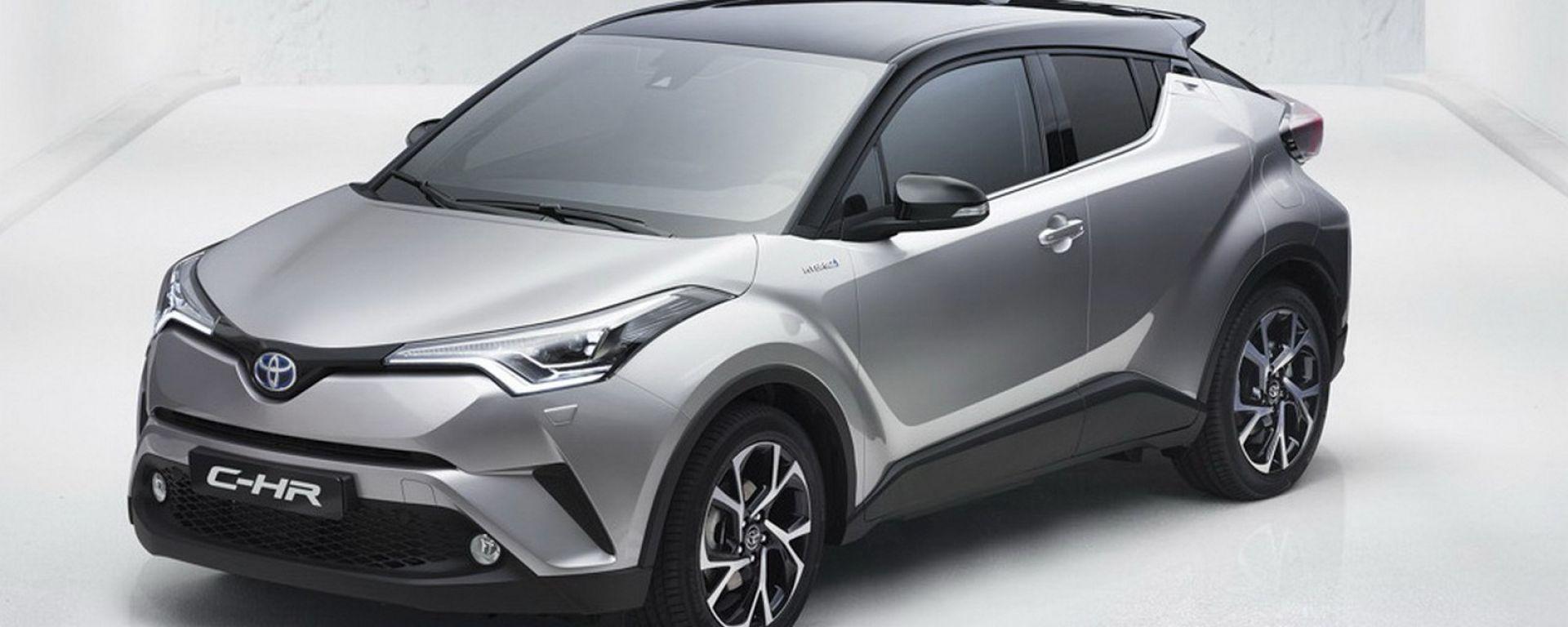 Prime foto ufficiali di Toyota C-HR, presto al Salone di Ginevra