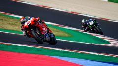 Francesco Bagnaia (Ducati) e Maverick Vinales (Yamaha)