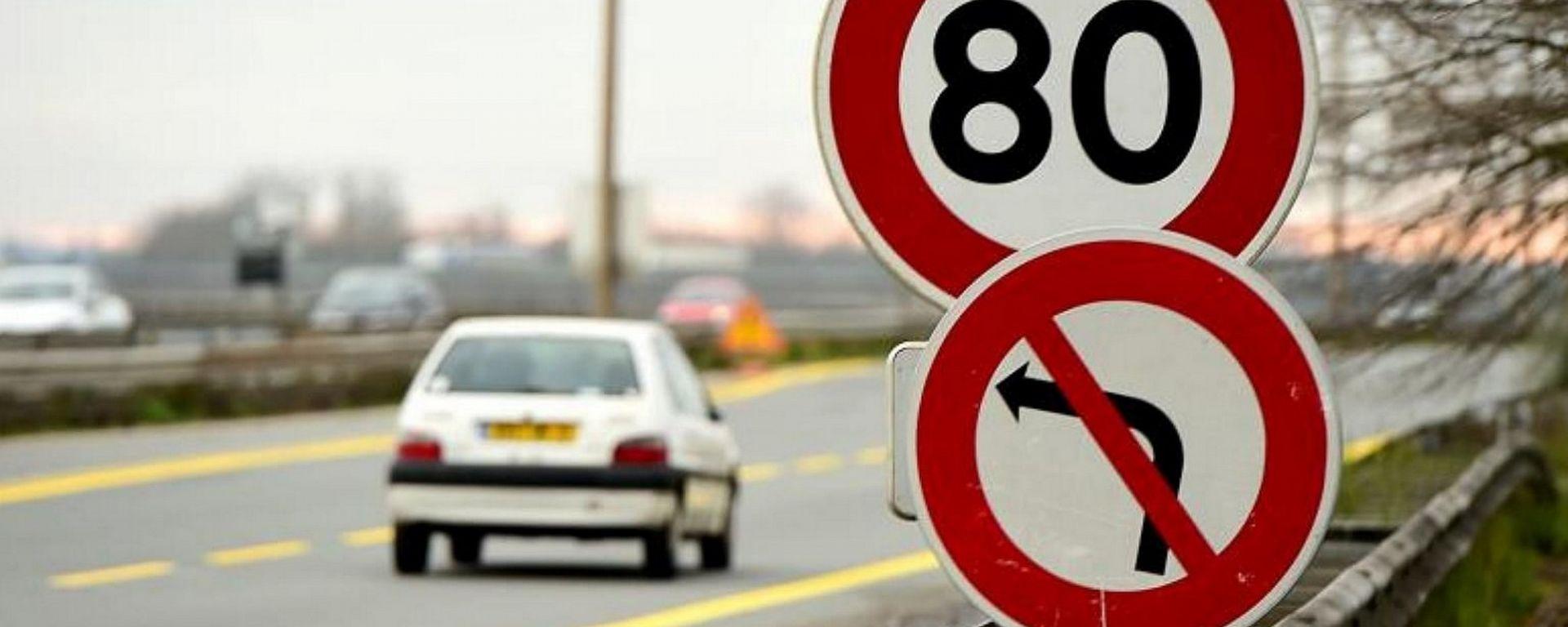 Francia, su strade extraurbane il limite di velocità cala a 80 km/h