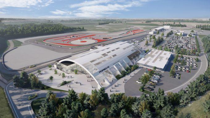Franciacorta, vista aerea 3D del nuovo Porsche Experience Center