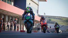Franco Morbidelli in pit-lane a Portimao