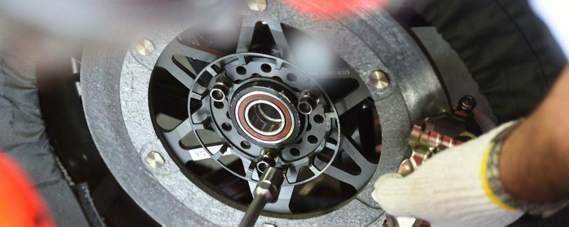 Freni a disco in carbonio della MotoGP