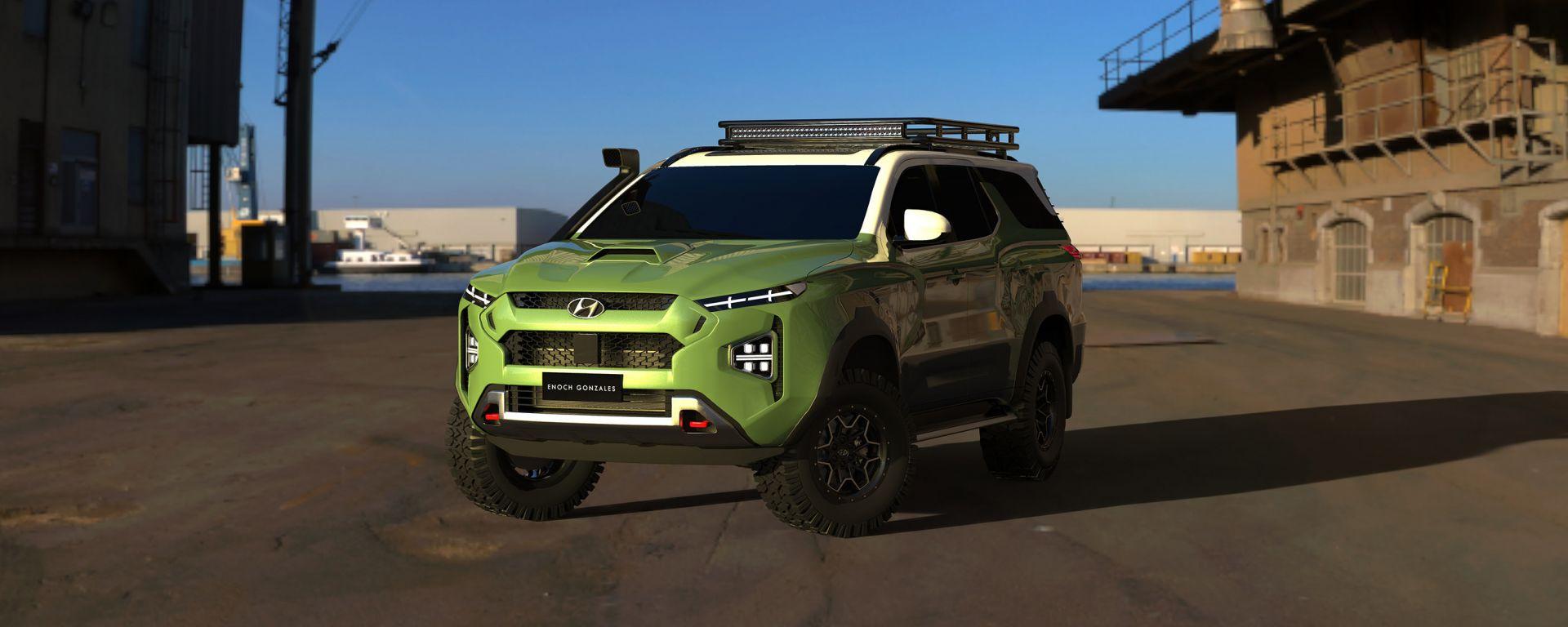 Fuoristrada Hyundai: il rendering di Enoch Gabriel Gonzales