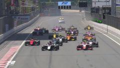 Gara sprint al via a Baku
