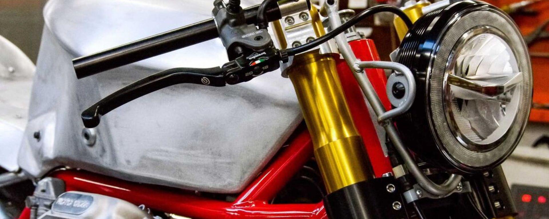 GCorse Classic 992: il motore della Moto Guzzi 850 Le Mans nella special dei fratelli Guareschi