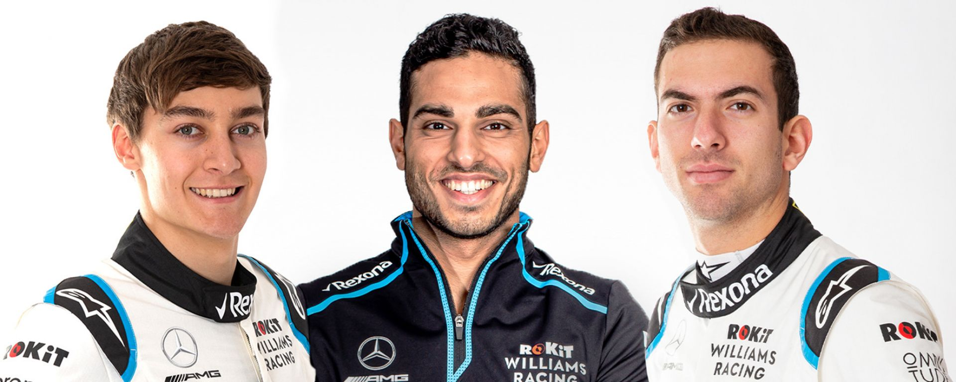 George Russell, Roy Nissany, Nicholas Latifi (Williams Racing)