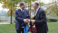 Giammario Comi, dg del Torino Calcio, con Giuseppe Abbagnale