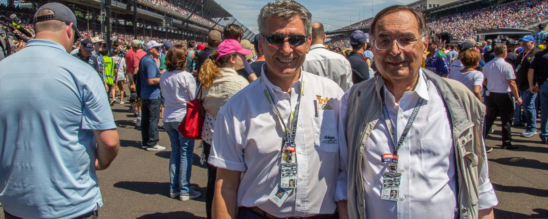 Giampaolo Dallara (a dx) e Andrea Pontremoli (a sx) a Indianapolis 2018. [Foto: Marco Borgo]