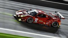 Giancarlo Fisichella in azione con la Ferrari 488 a Daytona
