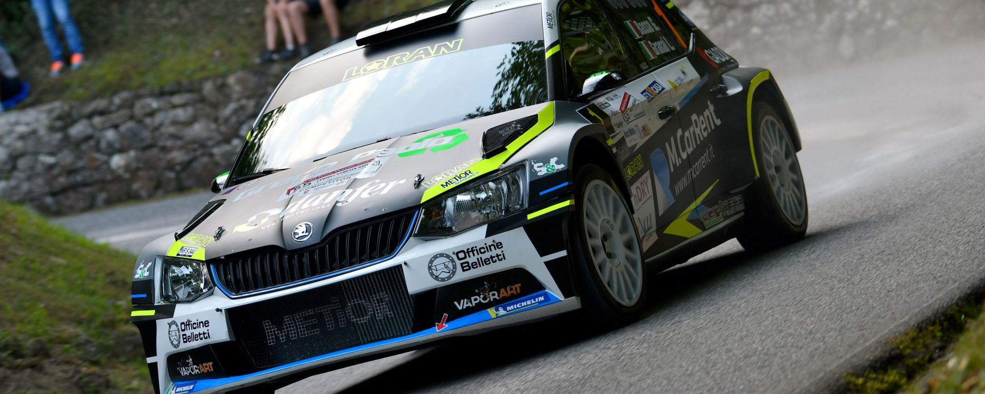Giandomenico Basso è il leader della classifica CIR dopo il Rally del Friuli