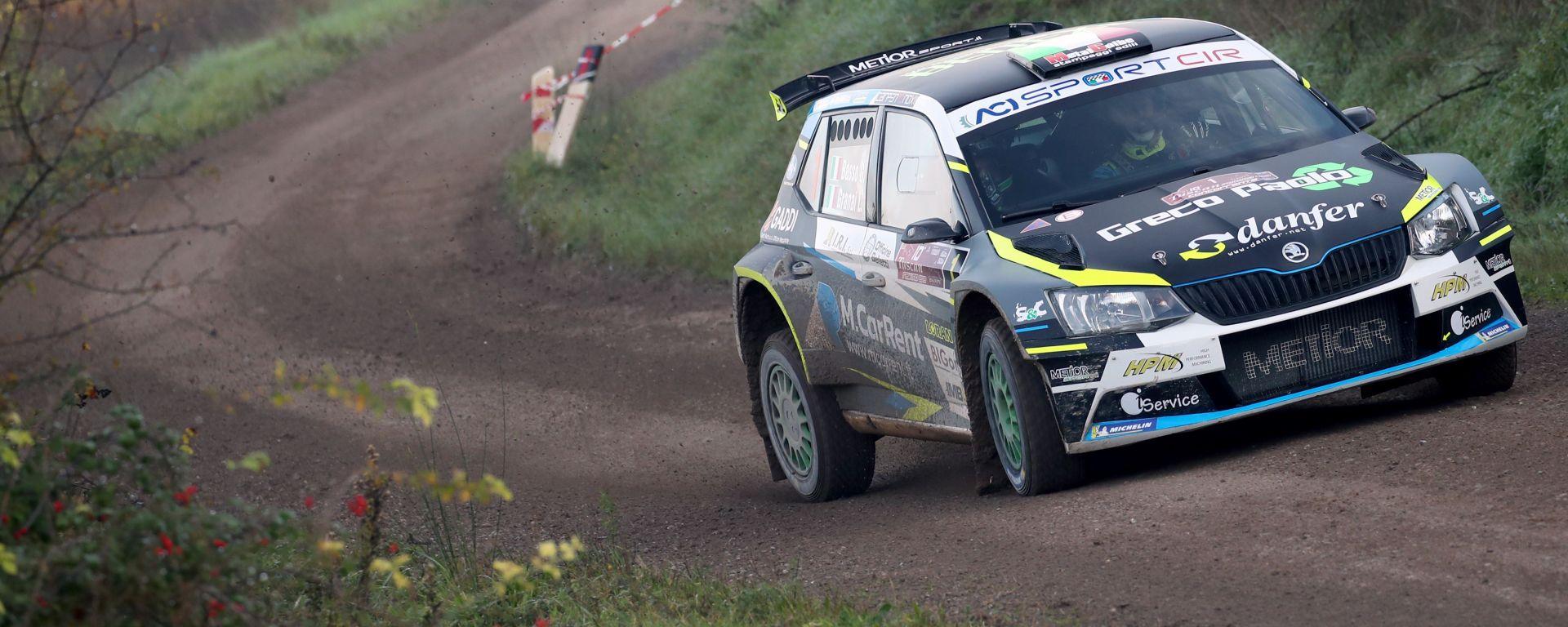 Giandomenico Basso (Skoda Fabia R5) è campione italiano rally dopo il Rally Tuscan Rewind 2019