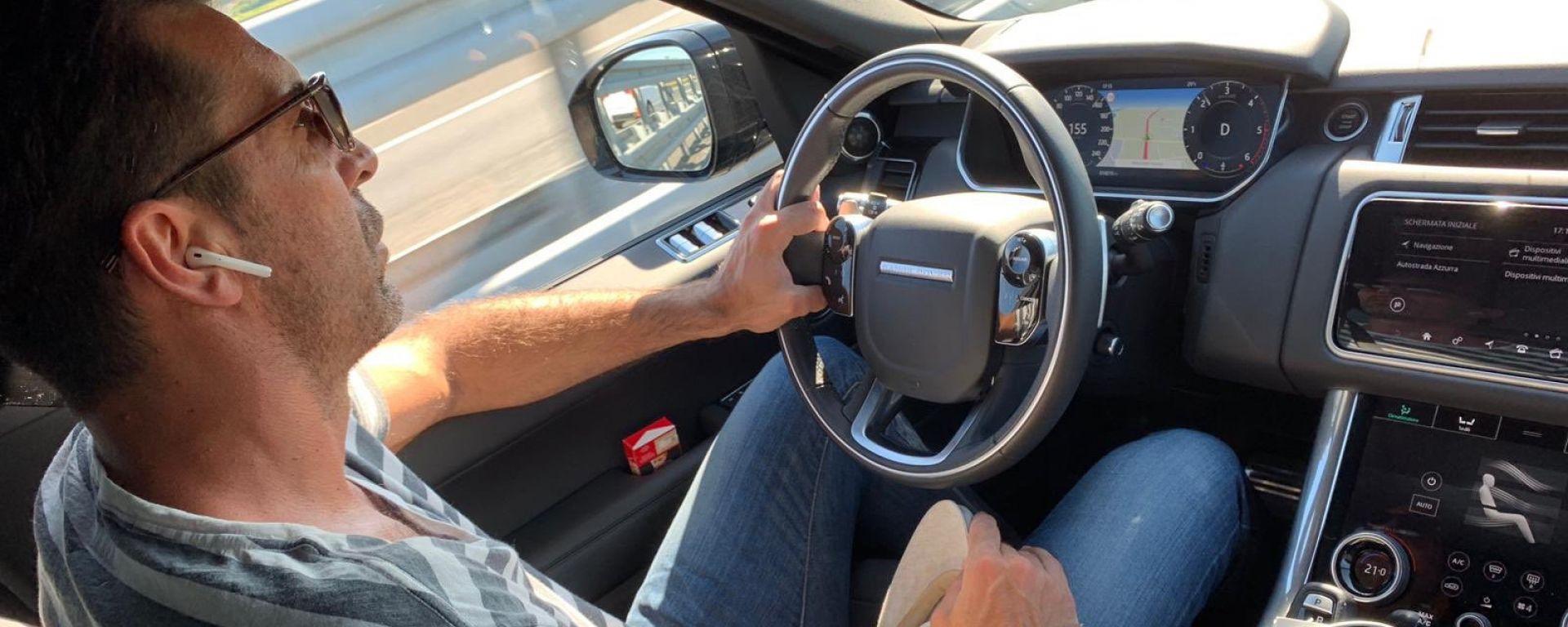 Gigi Buffon alla guida della sua Range Rover