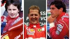 Schumacher, Senna, Villeneuve dal GP di Spagna al dramma di Imola