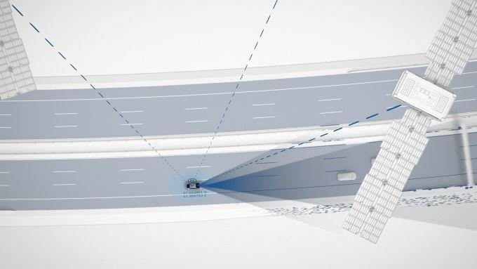 Bosch, rilevamento auto via satellite
