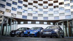 Giulia Veloce Q4 vs A4 quattro vs Serie 3 xDrive: carrozzerie differenti ma un punto in comune; la trazione integrale