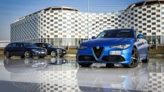 Giulia Veloce Q4 vs A4 quattro vs Serie 3 xDrive: la berlina italiana sfida ancora le tedesche