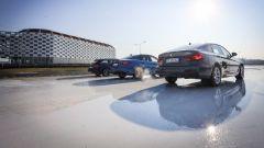 Giulia Veloce Q4 vs A4 quattro vs Serie 3 xDrive: le 3 auto al via della drag race