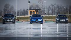 Giulia Veloce Q4 vs A4 quattro vs Serie 3 xDrive: le 3 auto pronte al via