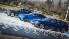 Giulia Veloce Q4 vs A4 quattro vs Serie 3 xDrive: l'elettronica dell'Audi taglia molto sullo spunto sul ghiaccio