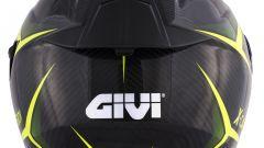 GIVI 40.5 X-CARBON Neon Yellow (vista posteriore)