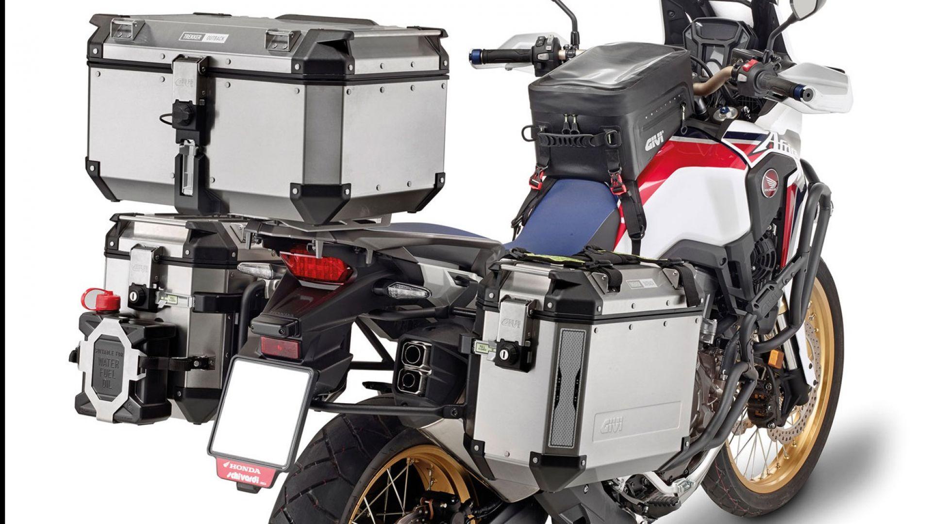 accessori moto givi  motodays   kit  accessori  africa twin motorbox