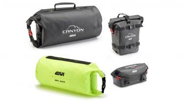 Givi GRT721 Canyon-Base, le borse compatibili