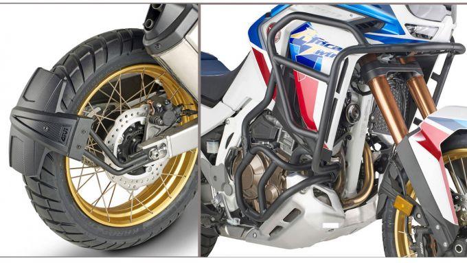 Givi, il paraspruzzi e le barre paramotore per Honda Africa Twin 1100 Adventure Sport 2020